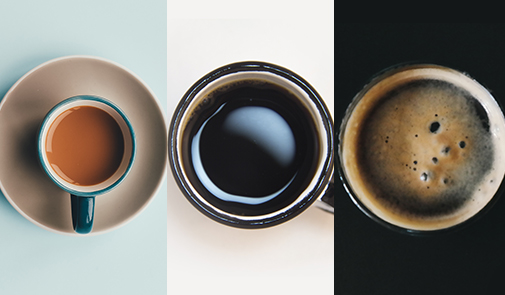 The different kinds of therapy - Picture of differnt cups of coffee